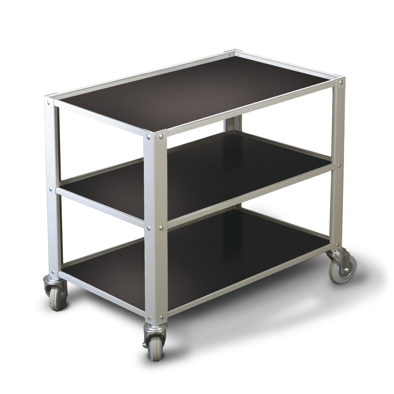 under bench trolley 650mm 3 shelves. Black Bedroom Furniture Sets. Home Design Ideas