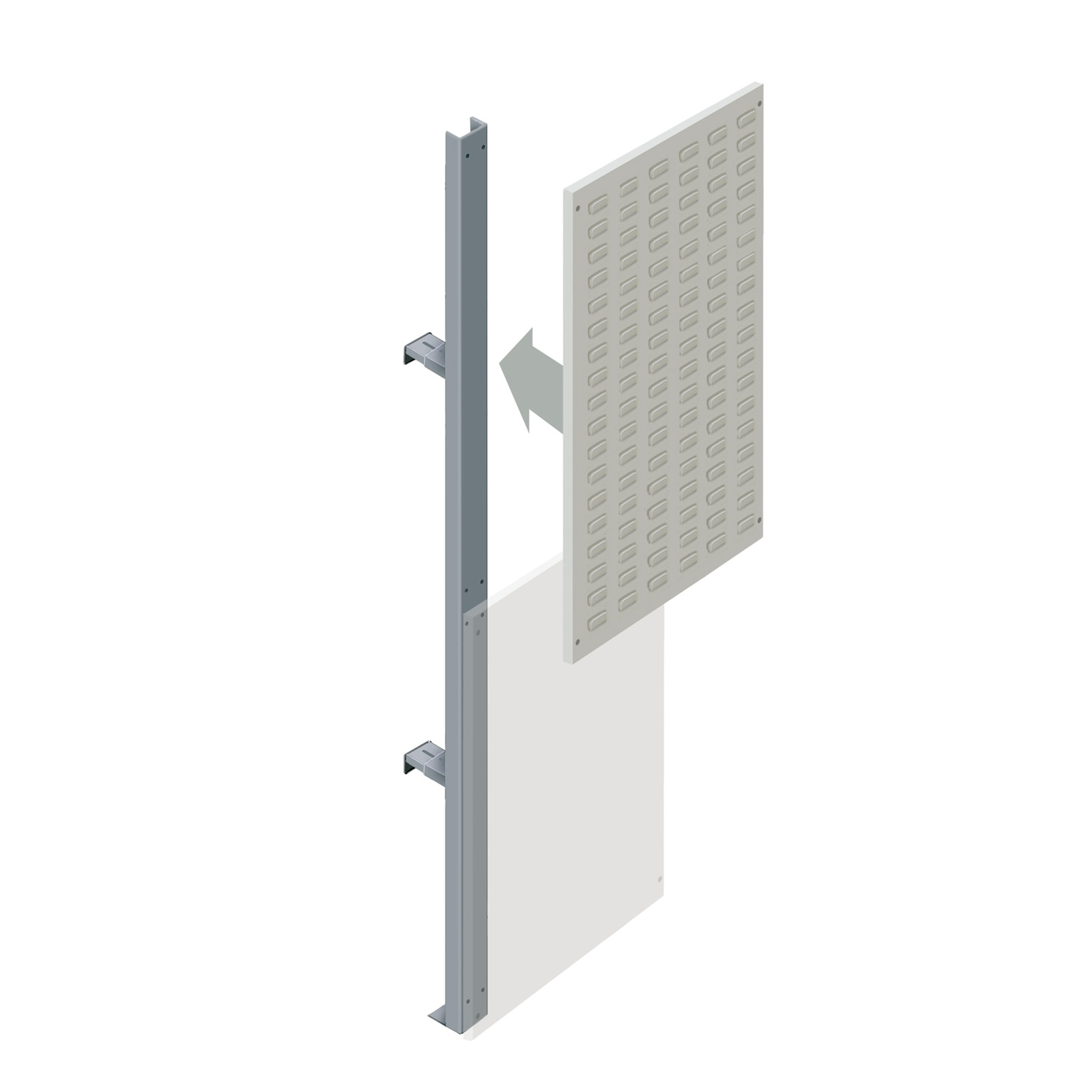 Upper Louvre Partition Walling Panel (600mm)