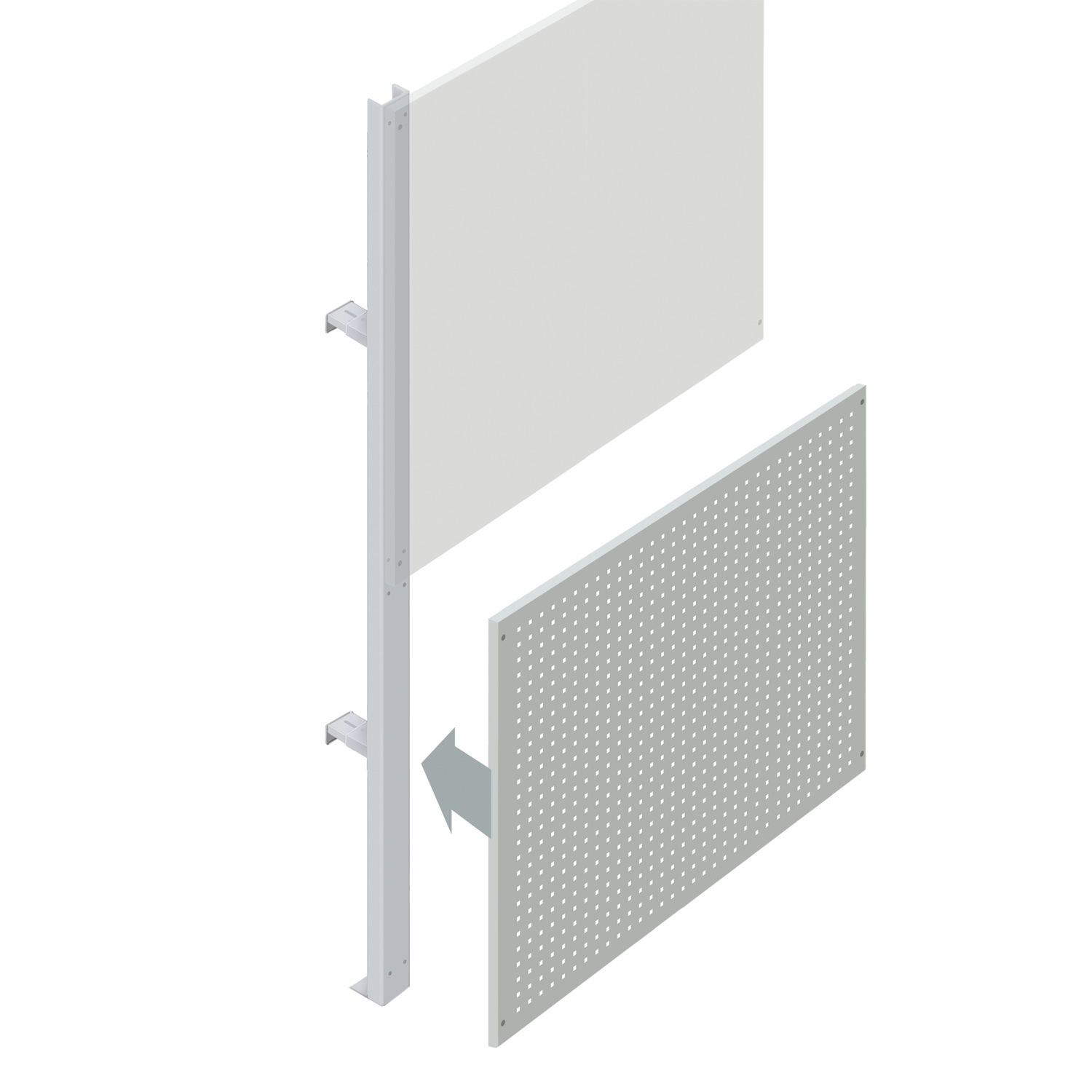 Lower Squarepeg Partition Walling Panel (1200mm)