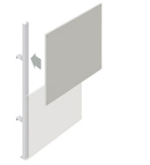 Upper Squarepeg Partition Walling Panel (1200mm)