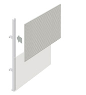 Upper Squarepeg Partition Walling Panel (1500mm)