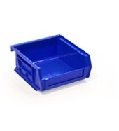 Blue louvre storage bin (49 x 106 x 106mm)