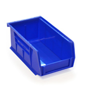 Blue louvre storage bin (76 x 106 x 187mm)