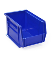 Blue louvre storage bin (127 x 140 x 205mm)