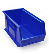 Blue louvre storage bin (179 x 210 x 375mm)