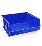 Blue louvre storage bin (179 x 415 x 370mm)