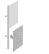 Lower Squarepeg Partition Walling Panel (600mm)