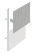 Upper Louvre Partition Walling Panel (1200mm)