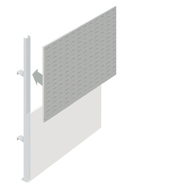 Upper Louvre Partition Walling Panel (1500mm)