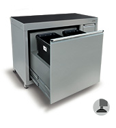 1200mm Wastebin cabinet (4 bins)