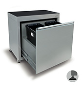900mm Waste recycling cabinet (2 bins)