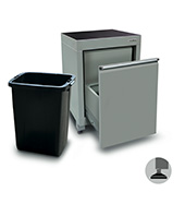 600mm wastebin cabinet with feet