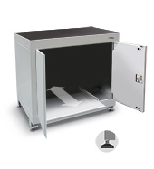900mm computer cabinet (with doors, sliding shelf and feet)