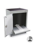 600mm computer cabinet (with 1 left hand door, sliding shelf and feet)