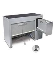 Tambour Door Desk Unit