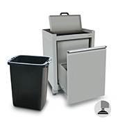 600mm wastebin cabinet with hinged lid