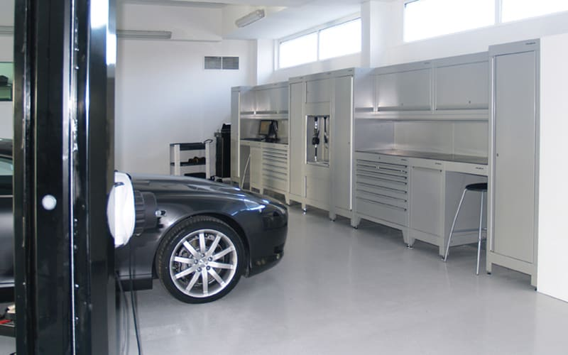 Aston Martin Bordeaux Workshop Furniture