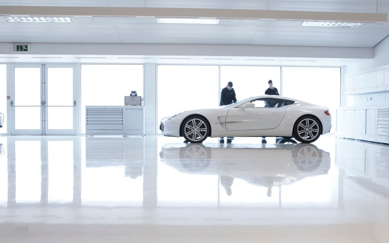 Aston Martin One 77 Workshop Cabinets by Dura Ltd