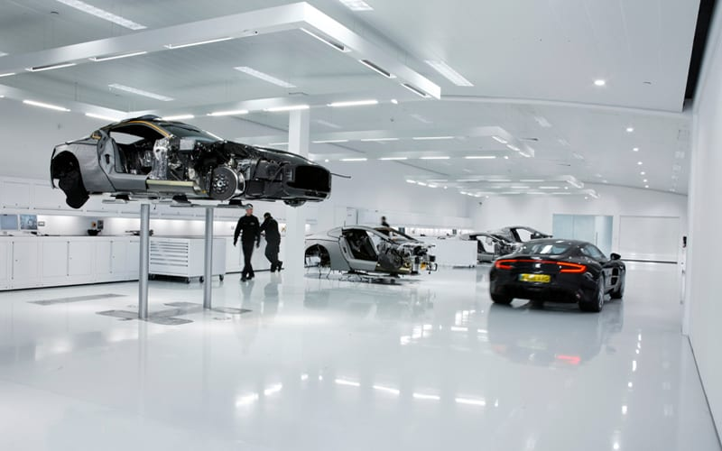 Aston Martin One 77 Workshop Furniture by Dura Ltd