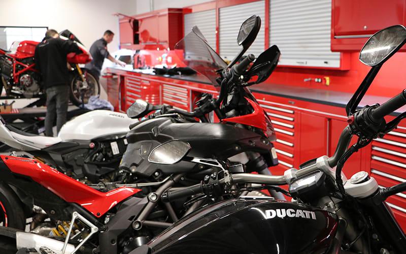 Ducati and Triumph Glasgow Custom workshop by Dura Ltd