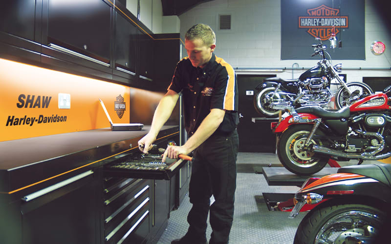 Harley Davidson Workshop Cabinets by Dura Ltd