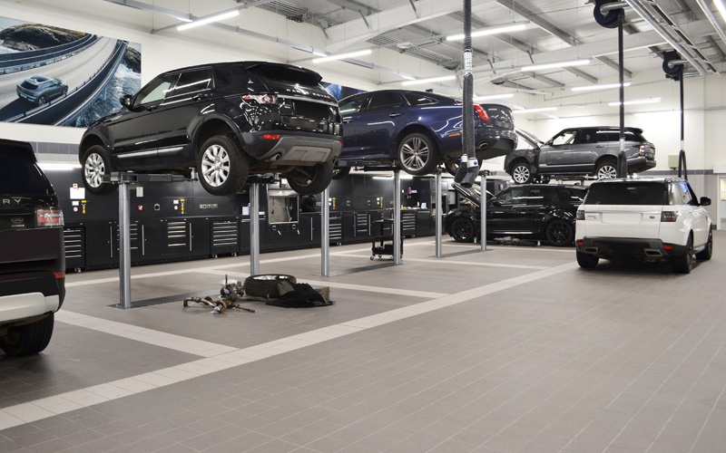 Dura Ltd Workshop Installation of Jaguar Land Rover Aylesbury