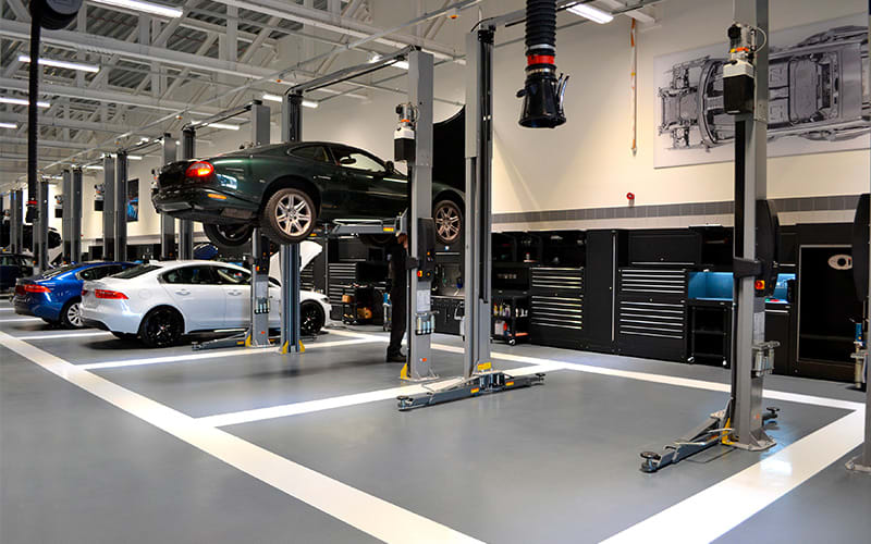 Dura Ltd Workshop Installation of Jaguar Land Rover Grange Group in Hatfield
