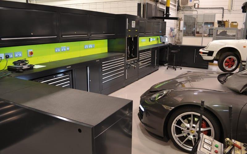 Porsche Reading Workshop Cabinets by Dura Ltd