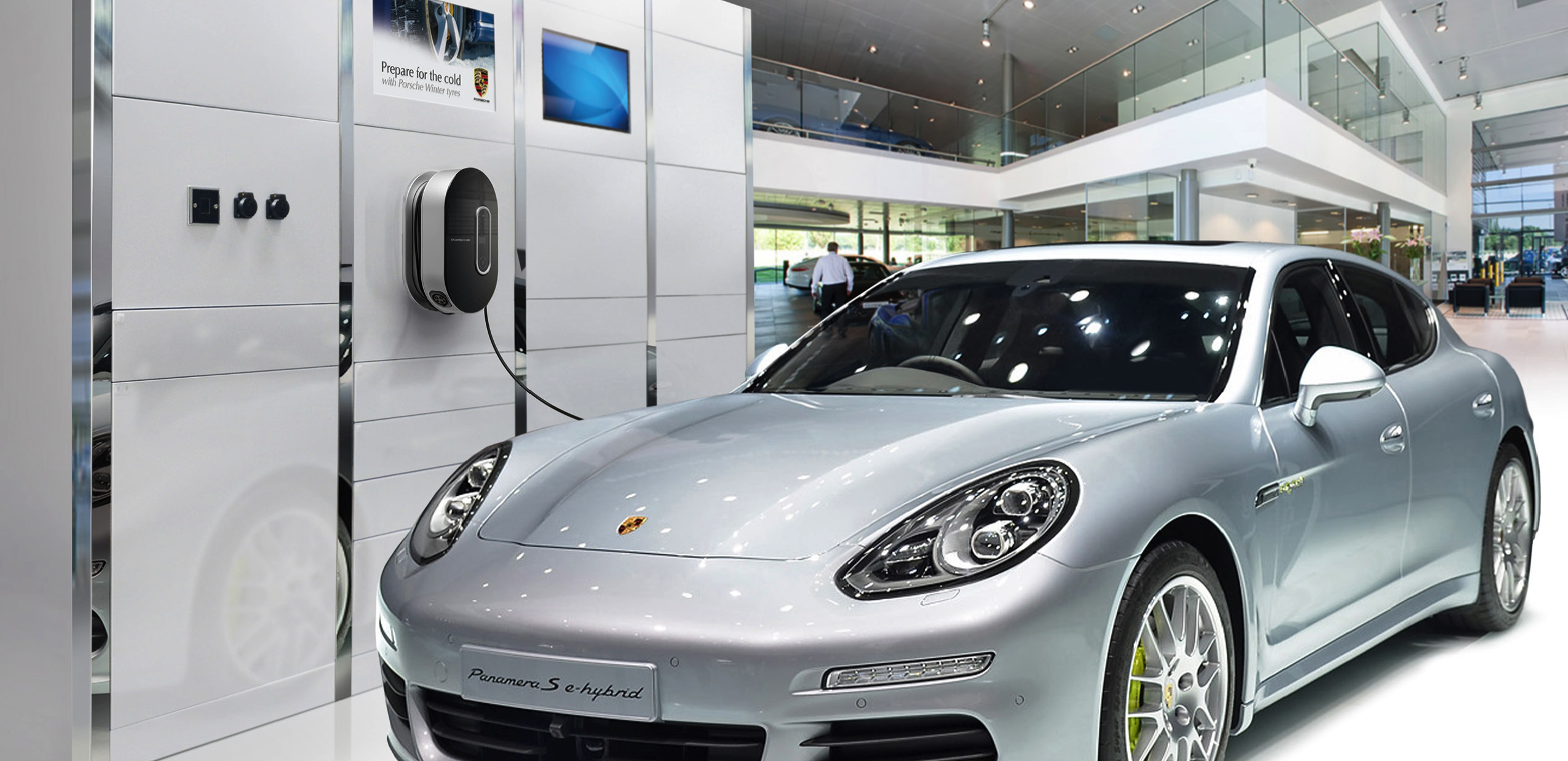 Dura ServiceWall System within Porsche Showroom