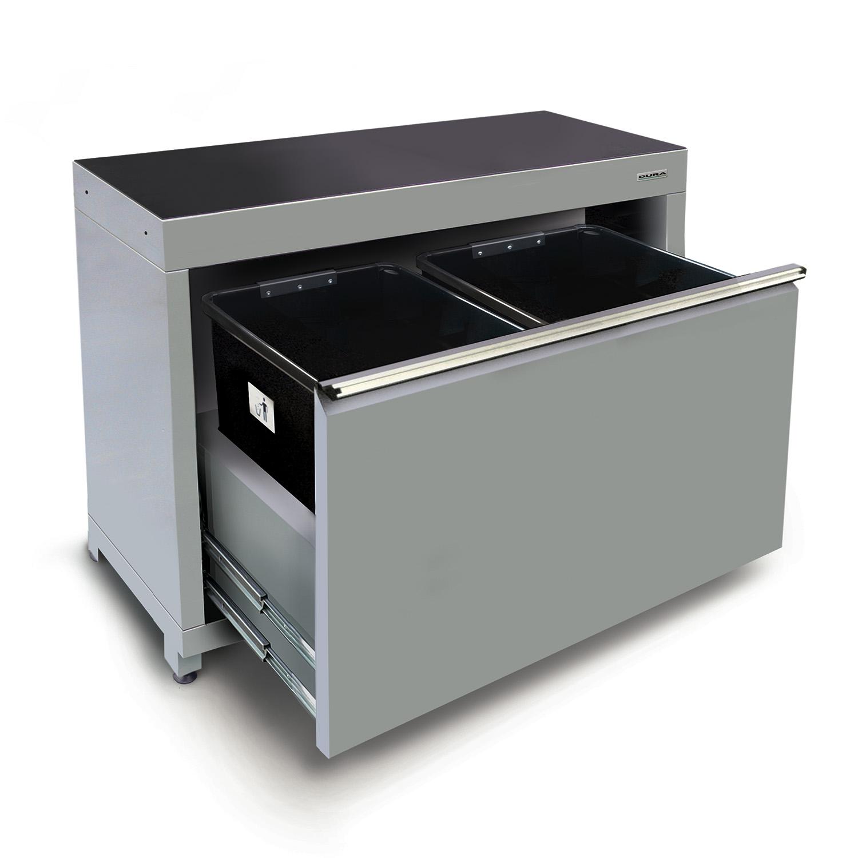 1200mm Kast Voor Afvalrecycling 2 Afneembare Bakken